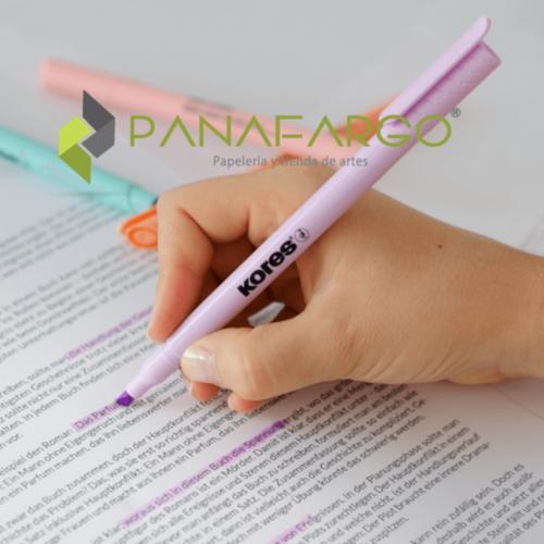 Resaltador Pastel Kores Delgado X 6 Colores Uso + Panafargo