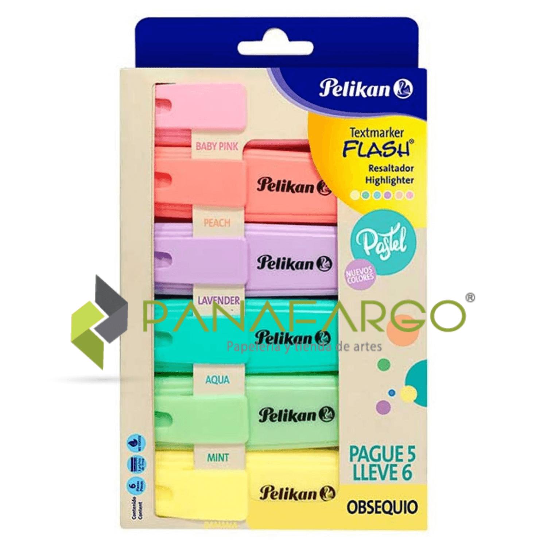 Resaltador Pastel Pelikan X 6 estuche + Panafargo