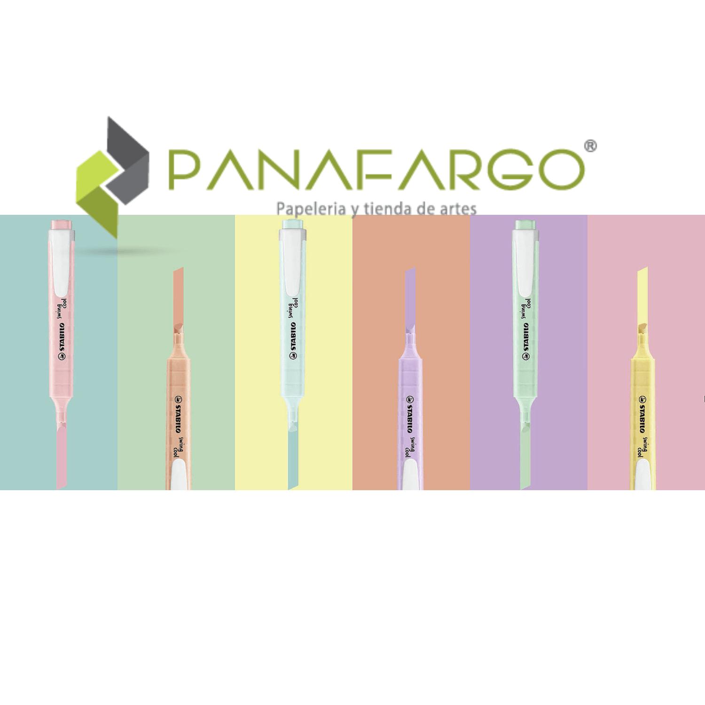 Resaltador Pastel Stabilo X 6 Swing Cool colores + Panafargo