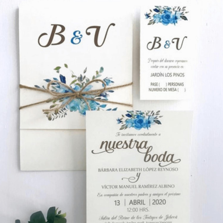 Opalina extra blanca en todos los tamaños tarjeta matrimonio + Panafargo